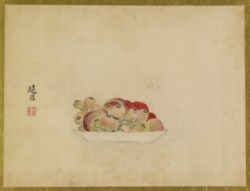 WALTERS: Isen'in Hoin Eishin (Japanese, 1775-1828): Fruits 1816