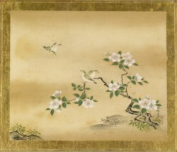 WALTERS: Kano Toshun (Japanese, 1747-1797): Green Birds and Camellia Branch 1747