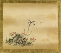 WALTERS: Kano Toshun (Japanese, 1747-1797): Swallow on Thorn Branch 1747