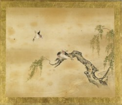 WALTERS: Kano Toshun (Japanese, 1747-1797): Swallows and Willow 1747