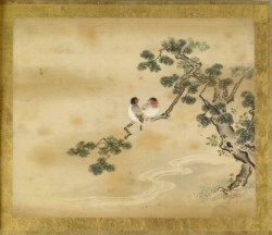 WALTERS: Kano Toshun (Japanese, 1747-1797): Unknown Bird in Pine 1747