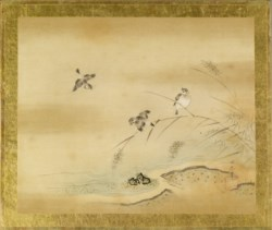WALTERS: Kano Toshun (Japanese, 1747-1797): Grey Birds and Dry Reeds 1747