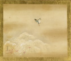 WALTERS: Kano Toshun (Japanese, 1747-1797): Kingfisher and Snowy Bamboo 1747