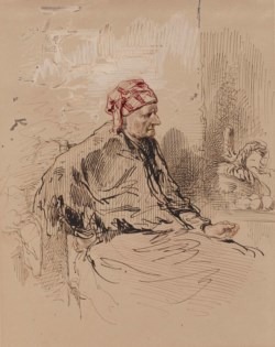 WALTERS: Paul Gavarni (French, 1804-1866): Old Woman in Red Cap 1852
