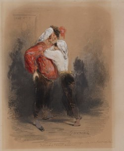 WALTERS: Paul Gavarni (French, 1804-1866): Man and Woman in Fancy Dress 1847