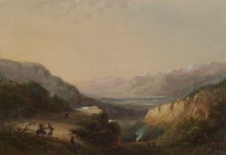 WALTERS: Alfred Jacob Miller (American, 1810-1874): Distant View Of Lake (Mountain of Winds) 1858