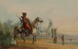 WALTERS: Alfred Jacob Miller (American, 1810-1874): Indian Returning to Camp with Game 1858
