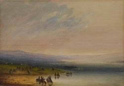 WALTERS: Alfred Jacob Miller (American, 1810-1874): Caravan on the Platte 1858