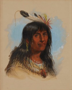 "WALTERS: Alfred Jacob Miller (American, 1810-1874): ""Big Bowl"" (A Crow Chief) 1858"