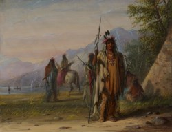 WALTERS: Alfred Jacob Miller (American, 1810-1874): Snake Indian Camp 1858