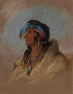 WALTERS: Alfred Jacob Miller (American, 1810-1874): White Plume 1858