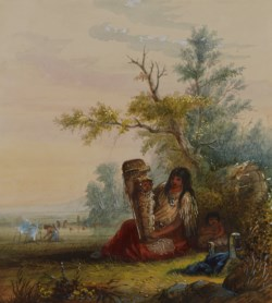 WALTERS: Alfred Jacob Miller (American, 1810-1874): Group of Indian Mother and Children 1858