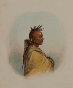 WALTERS: Alfred Jacob Miller (American, 1810-1874): Head of a Sioux 1858