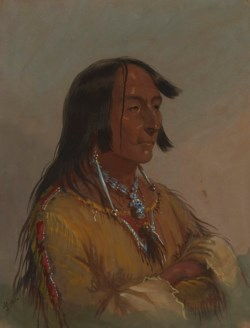 WALTERS: Alfred Jacob Miller (American, 1810-1874): Shim-a-co-che, Crow Chief 1858