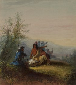 WALTERS: Alfred Jacob Miller (American, 1810-1874): Group of a Mountaineer and Kansas Indian 1858