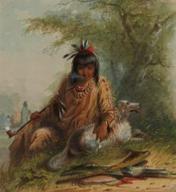 WALTERS: Alfred Jacob Miller (American, 1810-1874): Snake Indian and His Dog 1858