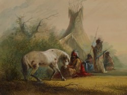 WALTERS: Alfred Jacob Miller (American, 1810-1874): Shoshone Indian and his Pet Horse 1858