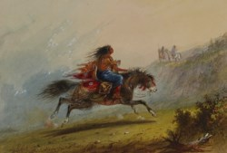 WALTERS: Alfred Jacob Miller (American, 1810-1874): An Indian Girl (Sioux) on Horseback 1858