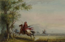 WALTERS: Alfred Jacob Miller (American, 1810-1874): Sioux Reconnoitring 1858