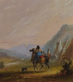 WALTERS: Alfred Jacob Miller (American, 1810-1874): Indian Women on Horseback in the Vicinity of the Cut Rocks 1858