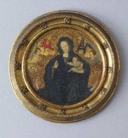 WALTERS: Netherlandish: Madonna with the Christ Child Writing 1398
