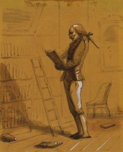 "WALTERS: Alfred Jacob Miller (American, 1810-1874): Bibliomaniac with an ""Elzivir"" in Hand! 1825"