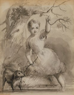 WALTERS: Alfred Jacob Miller (American, 1810-1874): Play-mates 1825