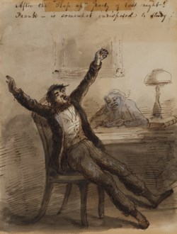 """WALTERS: Alfred Jacob Miller (American, 1810-1874): After the """"Slap Up"""" Party of Last Night! 1825"""