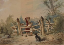 WALTERS: Alfred Jacob Miller (American, 1810-1874): George's Children, Waiting for the Drafted Father to Come Home 1810