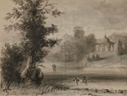 WALTERS: Alfred Jacob Miller (American, 1810-1874): View of the Lake in Druid Hill Park 1810