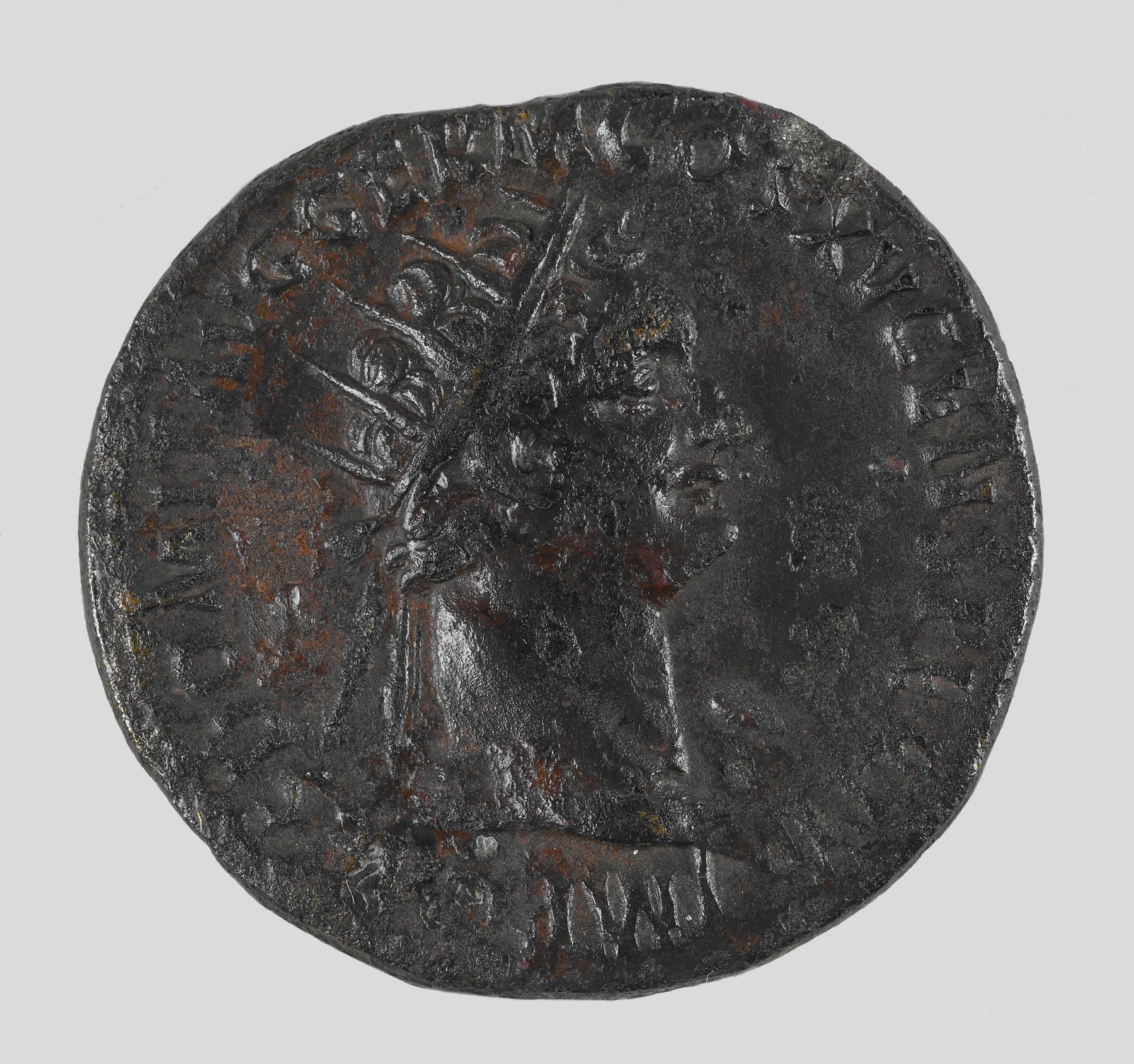 Coin with the Head of the Roman Emperor Domitian
