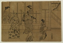 WALTERS: Japanese: Street of Brothels in Yoshiwara None