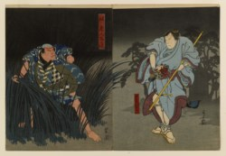 WALTERS: Yoshikuni (pm) (Japanese, active mid 19th century): A Nighttime Encounter 1838