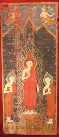WALTERS: Thai: The Buddha with his disciples Sariputta and Moggalana 1801