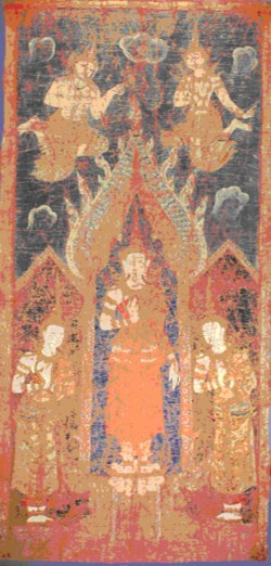 WALTERS: Thai: The Buddha with his disciples Sariputta and Moggalana 1850