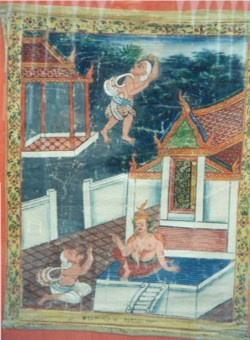 WALTERS: Thai: Vessantara Jataka, Chapter 7: Jujaka Asks the Hermit Acchuta Where Vessantara is Staying 1875