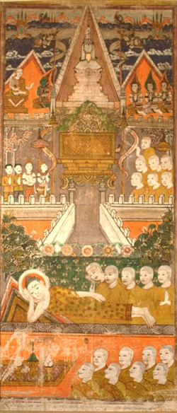 WALTERS: Thai: The Buddha's Parinibbana and Cremation 1825