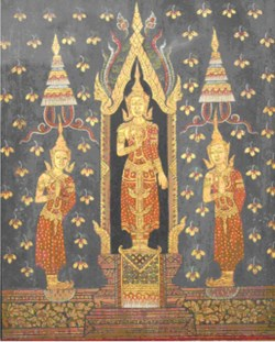 WALTERS: Thai: The Buddha with his disciples Sariputta and Moggalana 1825