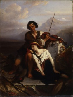 WALTERS: Louis Gallait (Belgian, 1810-1887): Power of Music 1852